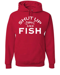 Shut Up And Fish Hoodie Funny Fishing Sweatshirt - Tee Hunt - 5