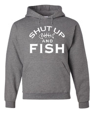 Shut Up And Fish Hoodie Funny Fishing Sweatshirt - Tee Hunt - 7