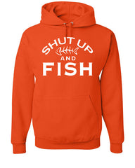 Shut Up And Fish Hoodie Funny Fishing Sweatshirt - Tee Hunt - 4