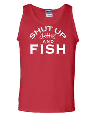 Shut Up And Fish Tank Top Funny Fishing Muscle Shirt - Tee Hunt - 5