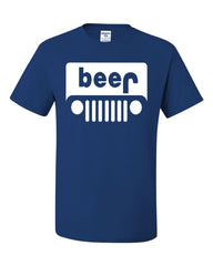 Beer Funny T-Shirt Jeep Parody Beer Drinking Tee Shirt - Tee Hunt - 6