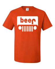 Beer Funny T-Shirt Jeep Parody Beer Drinking Tee Shirt - Tee Hunt - 3