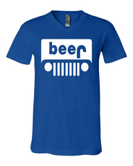 Beer Funny V-Neck T-Shirt Parody Beer Drinking Tee - Tee Hunt - 11