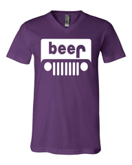 Beer Funny V-Neck T-Shirt Parody Beer Drinking Tee - Tee Hunt - 7