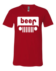 Beer Funny V-Neck T-Shirt Parody Beer Drinking Tee - Tee Hunt - 9