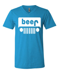 Beer Funny V-Neck T-Shirt Parody Beer Drinking Tee - Tee Hunt - 10