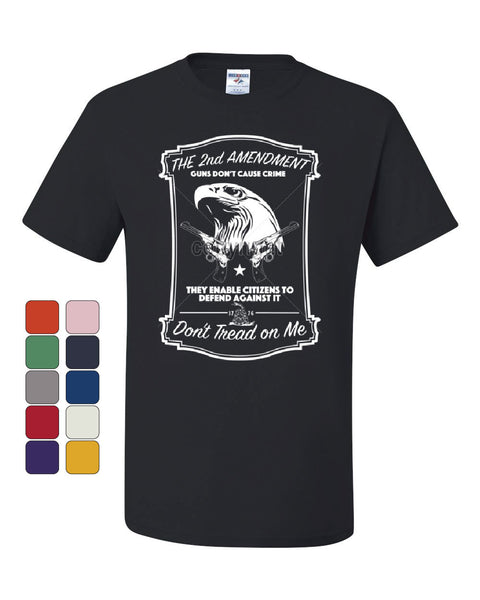 2nd Amendment T-Shirt Guns Don't Cause Crime Tee Shirt - Tee Hunt - 1