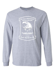 2nd Amendment Long Sleeve T-Shirt Guns Don't Cause Crime - Tee Hunt - 3