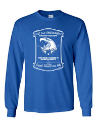 2nd Amendment Long Sleeve T-Shirt Guns Don't Cause Crime - Tee Hunt - 4