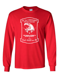 2nd Amendment Long Sleeve T-Shirt Guns Don't Cause Crime - Tee Hunt - 5