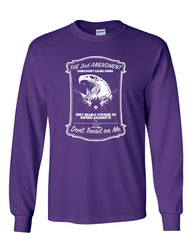 2nd Amendment Long Sleeve T-Shirt Guns Don't Cause Crime - Tee Hunt - 6