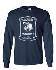 2nd Amendment Long Sleeve T-Shirt Guns Don't Cause Crime - Tee Hunt - 7
