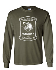 2nd Amendment Long Sleeve T-Shirt Guns Don't Cause Crime - Tee Hunt - 8