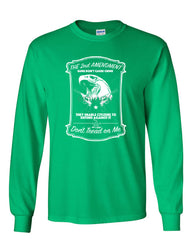 2nd Amendment Long Sleeve T-Shirt Guns Don't Cause Crime - Tee Hunt - 9
