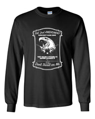 2nd Amendment Long Sleeve T-Shirt Guns Don't Cause Crime - Tee Hunt - 2