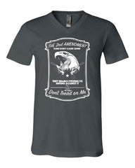 2nd Amendment V-Neck T-Shirt Guns Don't Cause Crime Tee - Tee Hunt - 4
