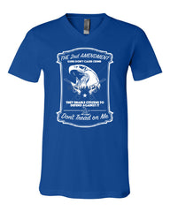 2nd Amendment V-Neck T-Shirt Guns Don't Cause Crime Tee - Tee Hunt - 11