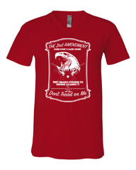 2nd Amendment V-Neck T-Shirt Guns Don't Cause Crime Tee - Tee Hunt - 9