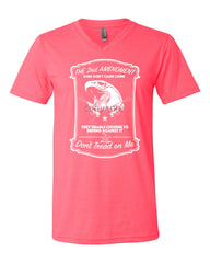 2nd Amendment V-Neck T-Shirt Guns Don't Cause Crime Tee - Tee Hunt - 8