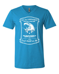2nd Amendment V-Neck T-Shirt Guns Don't Cause Crime Tee - Tee Hunt - 10