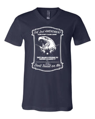 2nd Amendment V-Neck T-Shirt Guns Don't Cause Crime Tee - Tee Hunt - 5