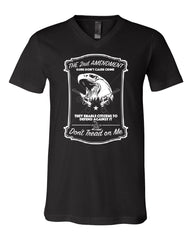 2nd Amendment V-Neck T-Shirt Guns Don't Cause Crime Tee - Tee Hunt - 2