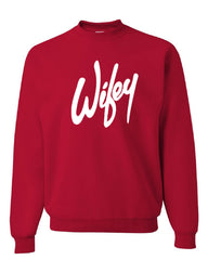 Wifey Crew Neck Sweatshirt Wife Bride Wedding Marriage - Tee Hunt - 4