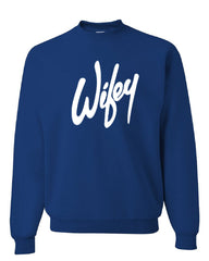 Wifey Crew Neck Sweatshirt Wife Bride Wedding Marriage - Tee Hunt - 5
