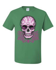 Pink Sugar Skull With Roses T-Shirt Calavera Day of The Dead Tee Shirt - Tee Hunt - 8