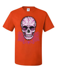 Pink Sugar Skull With Roses T-Shirt Calavera Day of The Dead Tee Shirt - Tee Hunt - 3