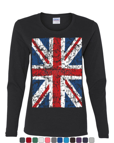 Union Jack Long Sleeve T-Shirt United Kingdom Distressed British Flag - Tee Hunt - 1