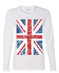 Union Jack Long Sleeve T-Shirt United Kingdom Distressed British Flag - Tee Hunt - 3