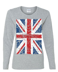 Union Jack Long Sleeve T-Shirt United Kingdom Distressed British Flag - Tee Hunt - 4