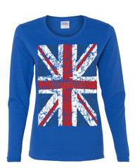 Union Jack Long Sleeve T-Shirt United Kingdom Distressed British Flag - Tee Hunt - 5