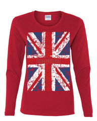 Union Jack Long Sleeve T-Shirt United Kingdom Distressed British Flag - Tee Hunt - 6