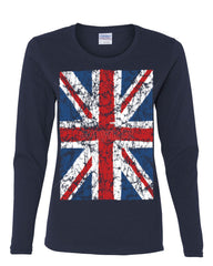 Union Jack Long Sleeve T-Shirt United Kingdom Distressed British Flag - Tee Hunt - 7