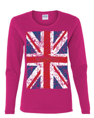 Union Jack Long Sleeve T-Shirt United Kingdom Distressed British Flag - Tee Hunt - 8