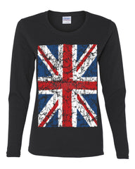 Union Jack Long Sleeve T-Shirt United Kingdom Distressed British Flag - Tee Hunt - 2