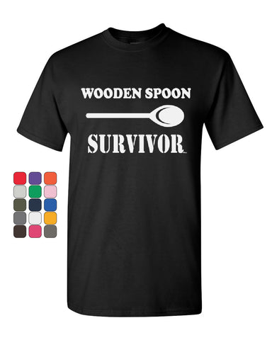 Wooden Spoon Survivor T-Shirt Funny College Humor Tee Shirt - Tee Hunt - 1