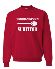 Wooden Spoon Survivor Crew Neck Sweatshirt Funny College Humor - Tee Hunt - 4