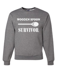 Wooden Spoon Survivor Crew Neck Sweatshirt Funny College Humor - Tee Hunt - 6