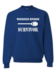 Wooden Spoon Survivor Crew Neck Sweatshirt Funny College Humor - Tee Hunt - 5