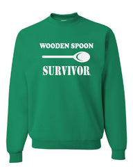 Wooden Spoon Survivor Crew Neck Sweatshirt Funny College Humor - Tee Hunt - 3