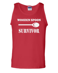 Wooden Spoon Survivor Tank Top Funny College Humor - Tee Hunt - 5