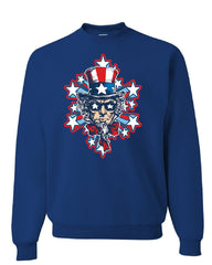 Uncle Sam Stars and Stripes Sweatshirt America 4th of July Patriot Sweater