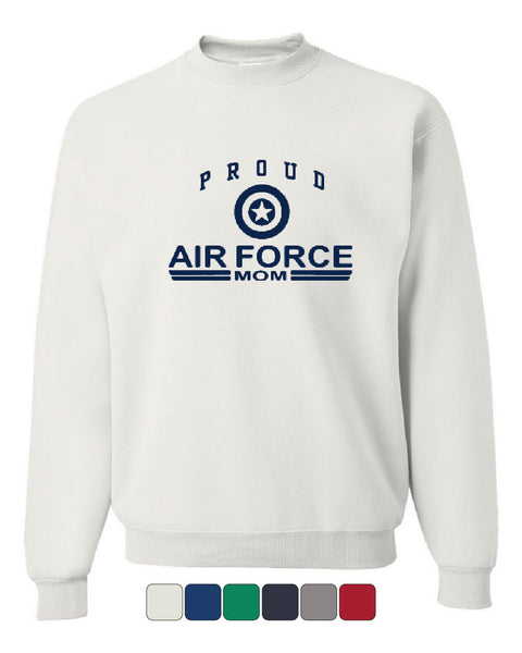 Proud Air Force Mom Crew Neck Sweatshirt US Air Force