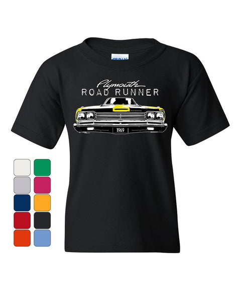 992ccc28 Plymouth Road Runner 1969 Youth T-Shirt Route 66 American Made Classic