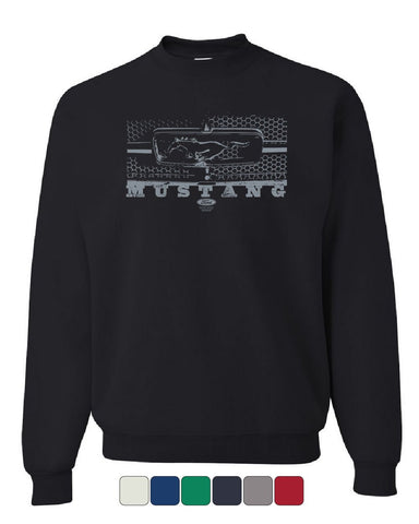 Ford Mustang Honeycomb Grille Sweatshirt Legendary American Muscle Sweater