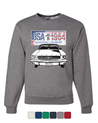 Mustang Country 1964 Sweatshirt Ford Legend USA American Classic Sweater