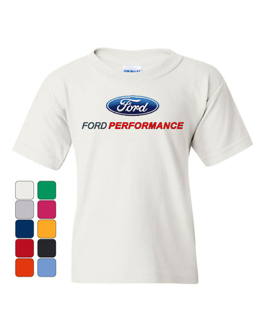 Ford Performance Youth T-Shirt Ford Mustang GT ST Racing Tee - Tee Hunt - 1